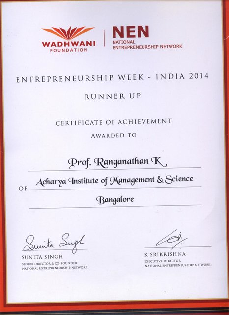Entrepreneurship Week Runnerup